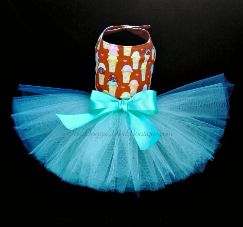 Brown Ice Cream Cone Tutu Dress