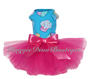 "Blue Sprinkle Cupcake Tutu Dress As seen in the video ""Cupcakes"""