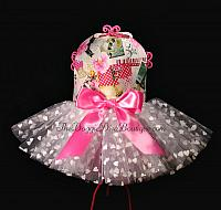 Flowers and Hearts Tutu Dress