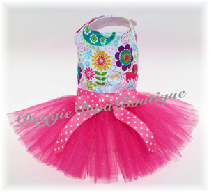 Puppies and Flowers tutu dress