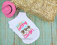 My Mama is letting me grow up to be a Cowgirl Dog t shirt