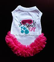 Sample Sale - Spa Day t shirt with ruffles - Small