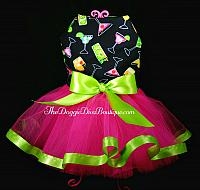 Tropical Drinks Dog Tutu Dress