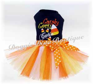 Candy Corn Cutie Dog Tutu Dress